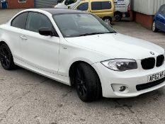 2012/62 REG BMW 118D ES 2.0 DIESEL WHITE COUPE, SHOWING 1 FORMER KEEPER *NO VAT*