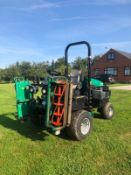 2013 RANSOMES PARKWAY 3 RIDE ON LAWN MOWER, RUNS, DRIVES AND CUTS *PLUS VAT*