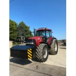 CASE MXM190 TRACTOR, VERY GOOD TYRES, TRANSPORT BOX ON THE FRONT, FRONT SUSPENSION *PLUS VAT*