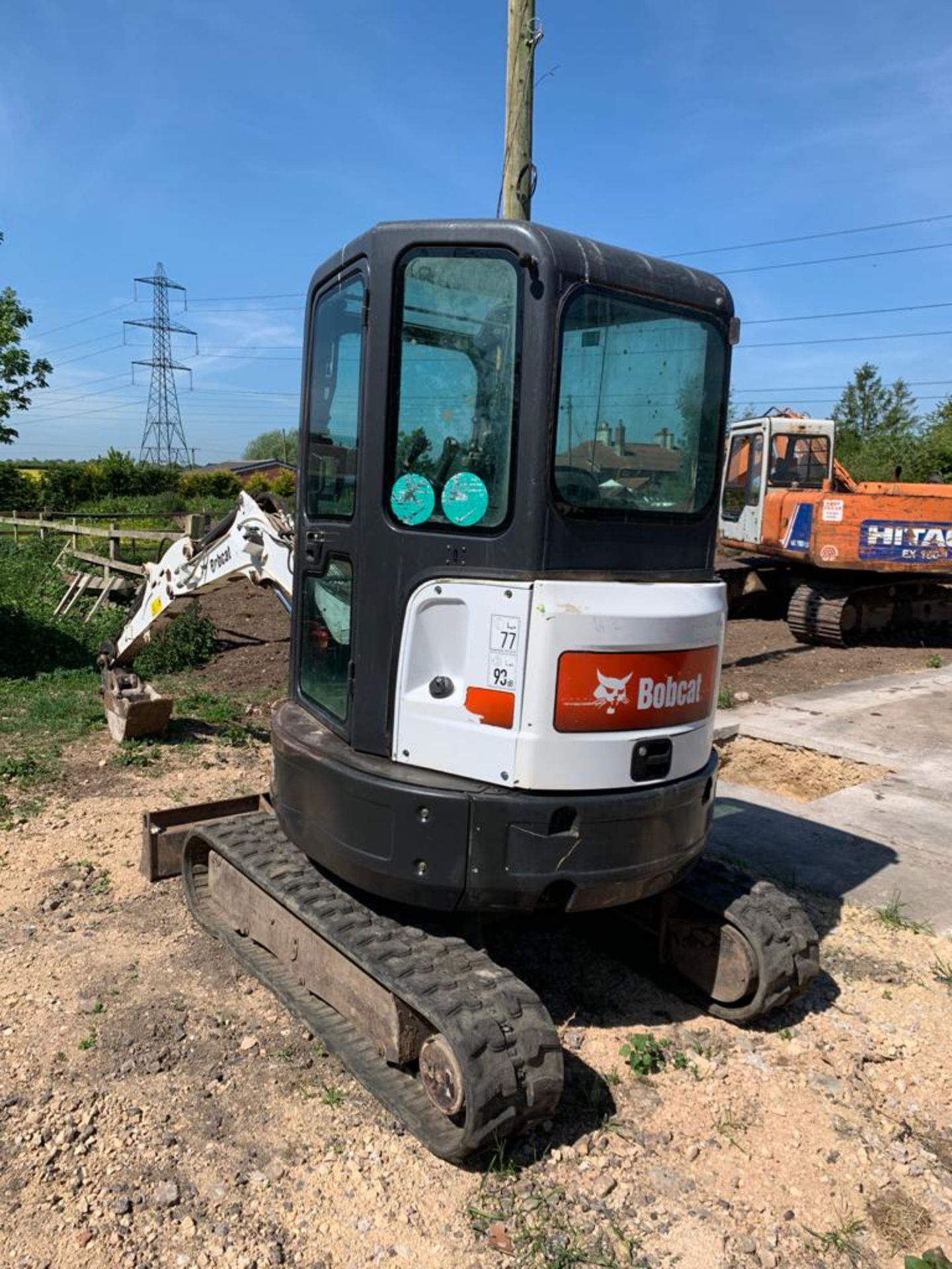 2014 BOBCAT E25 RUBBER TRACKED COMPACT EXCAVATOR / DIGGER, 15.3 KW, MASS 2516 KG *PLUS VAT* - Image 4 of 19