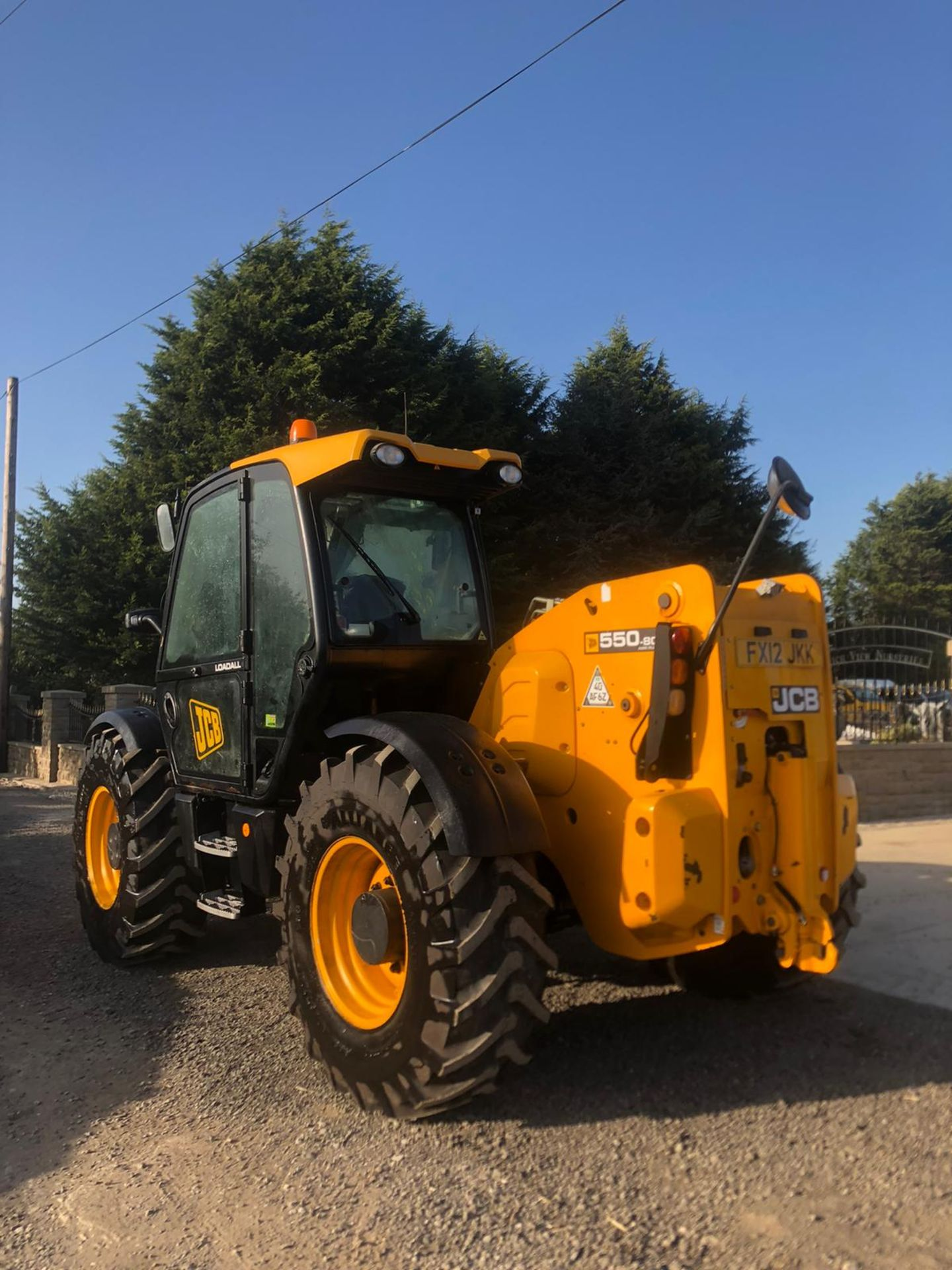 2012 JCB 550-80 AGRI PLUS TELEHANDLER, RUNS, DRIVES AND LIFTS, SHOWING 4214 HOURS *PLUS VAT* - Image 5 of 11