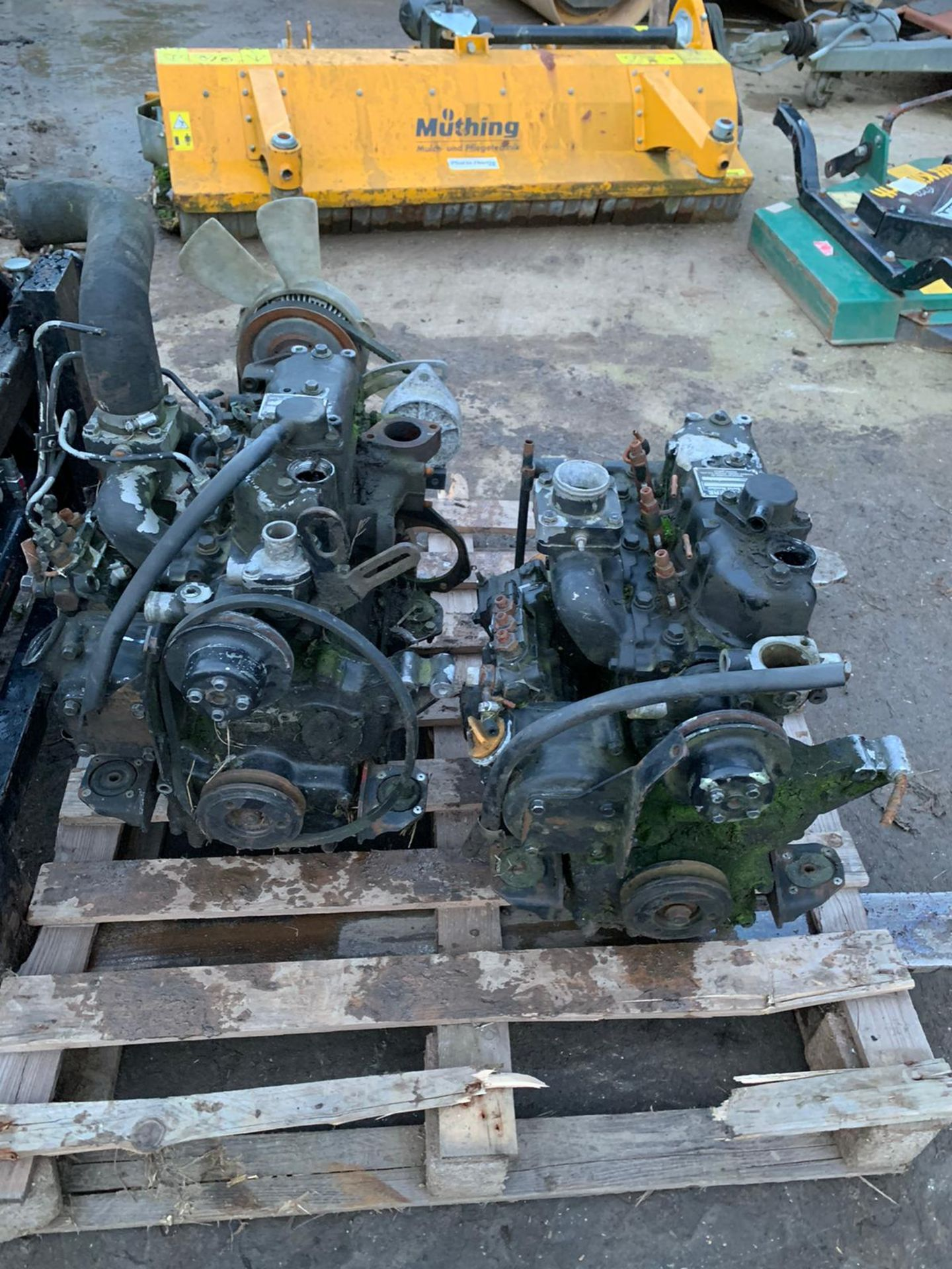 Lot 11 - YANMAR / JOHN DEERE ENGINES, PRICE IS FOR THE PAIR, EX COUNCIL, SELLING AS SPARES *PLUS VAT*