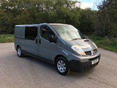 2007/57 REG RENAULT TRAFIC LL29 DCI 115 2.0 DIESEL PANEL VAN, SHOWING 4 FORMER KEEPERS *NO VAT*