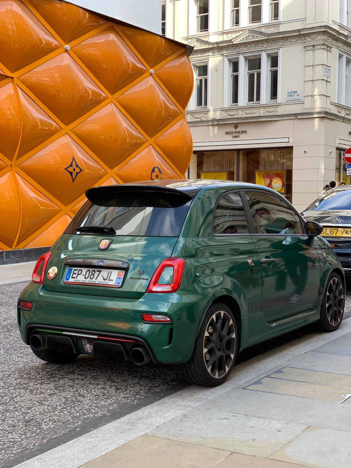 Lot 174 - ABARTH 595 COMP 2016, 10,000 MILES NO ACCIDENTS, CUSTOM EXHAUST, WRAPPED DARK GREEN, FRENCH PLATES
