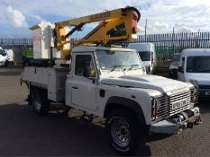 2008/08 REG LAND ROVER DEFENDER 130 24 TDCI CHERRY PICKER PLATFORM CAB *PLUS VAT*