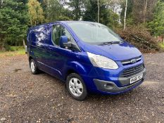 2016/66 REG FORD TRANSIT CUSTOM 270 LIMITED 2.0 DIESEL BLUE PANEL VAN, SHOWING 0 FORMER KEEPERS