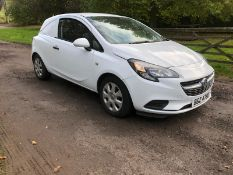 2016 VAUXHALL CORSA CDTI ECOFLEX 1.25 DIESEL WHITE CAR / VAN, SHOWING 0 FORMER KEEPERS *PLUS VAT*