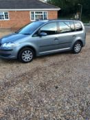 2010/10 REG VOLKSWAGEN TOURAN S TDI 105 1.9 DIESEL MPV GREY, SHOWING 1 FORMER KEEPER *NO VAT*