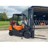 DOOSAN 2 TON GAS FORK LIFT, MODEL: G20G, 2016, TRIPLE MAST, SIDESHIFT, 5990 MM - 6 METRE, 1789 HOURS