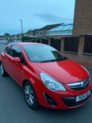 2014/14 REG VAUXHALL CORSA EXCITE 1.2 PETROL RED 3 DOOR HATCHBACK, SHOWING 2 FORMER KEEPERS *NO VAT*