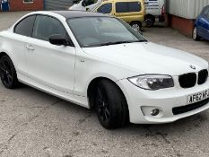 2012/62 REG BMW 118D ES 2.0 DIESEL WHITE COUPE, SHOWING 1 FORMER KEEPER *NO VAT*