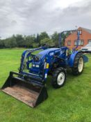 JIMNA FS254 TRACTOR WITH LOADER, RUNS, DRIVES AND DIGS, 4-IN-1 BUCKET, C/W TRANSPORT BOX, 460 HOURS