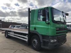 2009/59 REG DAF CF 85.410 18 TON FLAT BED TRUCK 26FT WITH AIR CON *PLUS VAT*