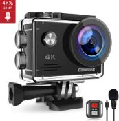 BRAND NEW & SEALED! CAMPARK X5 4K 20MP 40M WATERPROOF ACTION CAMERA WEBCAM WIFI EXTERNAL MICROPHONE