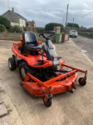 KUBOTA F1900 RIDE ON OUTFRONT MOWER, RUNS AND DRIVES, BELIEVES TO CUT BUT NO DECK PTO SHAFT *NO VAT*