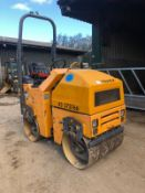 2012 TEREX TV800 RIDE ON TWIN DRUM VIBRATING ROLLER, 785 HOURS, RUNS, DRIVES AND VIBRATES *PLUS VAT*
