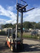 NISSAN 20 2 TON DIESEL FORKLIFT, RUNS, WORKS & LIFTS, GOOD BRAKES AND HANDBRAKE, SIDE SHIFT *NO VAT*