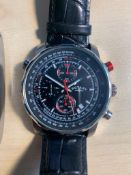GENUINE ROTARY MENS WIRST WATCH WITH BLACK ALIGATOR STYLE GENUINE LEATHER STRAP - NO RESERVE!