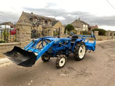 ISEKI TS1910 COMPACT TRACTOR LOADER WITH ROTAVATOR, RUNS AND WORKS WELL *PLUS VAT*