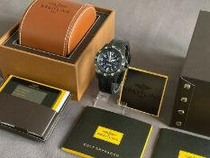 BREITLING COLT SKYRACER MENS WRIST WATCH IN BREITLIGHT BLACK - MINT, AS NEW CONDITION *NO VAT*