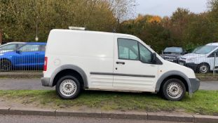 2006/06 REG FORD TRANSIT CONNECT L200 TD SWB 1.8 DIESEL WHITE PANEL VAN, SHOWING 4 FORMER KEEPERS