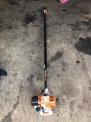 STIHL HT131 POLE SAW, RUNS AND WORKS, C/W CHAINSAW ATTACHMENT AND COVER *NO VAT*