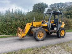 JCB 520-55 TELEHANDLER, ONLY 1997 HOURS, PERKINS DIESEL ENGINE, STARTS FIRST TURN OF THE KEY