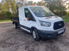 2017/67 REG FORD TRANSIT 350 2.0 DIESEL WHITE TIPPER, SHOWING 0 FORMER KEEPERS *PLUS VAT*