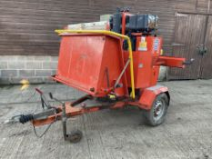 CAMON C300 TOWABLE DIESEL WOOD CHIPPER, DIRECT EX COUNCIL, ONLY 238 HOURS, HYDRAULIC ROLLER FEED
