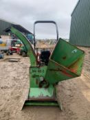 FINWALPAN WOOD CHIPPER, SUITABLE FOR 3 POINT LINKAGE, RUNS AND WORKS *PLUS VAT*