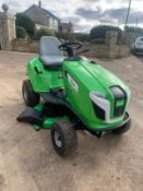 VIKING MT4112 S RIDE ON MULCHER MOWER, RUNS, DRIVES AND CUTS, EX DEMO CONDITION - LIKE BRAND NEW