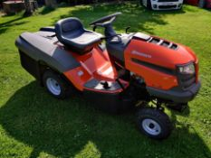 2020 BRAND NEW HUSQVARNA TC138 ROTARY RIDE ON LAWN MOWER (REAR DISCHARGE) C/W COLLECTOR *PLUS VAT*