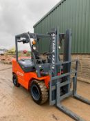 2019 ATTACK AK35 FORKLIFT, BRAND NEW AND UNUSED, C/W PALLET FORKS *PLUS VAT*