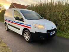 2014/64 REG PEUGEOT PARTNER 850 S L1 HDI 1.6 DIESEL WHITE PANEL VAN, SHOWING 0 FORMER KEEPERS