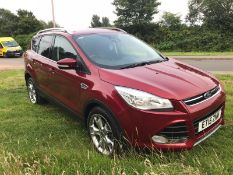 2015/15 REG FORD KUGA TITANIUM TDCI 2.0 DIESEL RED 5 DOOR, SHOWING 3 FORMER KEEPERS *NO VAT*