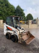 2015 BOBCAT S70 SKIDSTEER LOADER, RUNS, DRIVES AND DIGS, 4-IN-1 BUCKET *PLUS VAT*