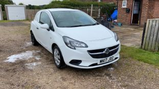 2017/17 REG VAUXHALL CORSA CDTI S/S 1.25 DIESEL CAR DERIVED VAN WHITE, SHOWING 1 FORMER KEEPER