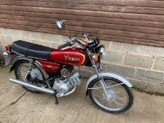 1986 YAMAHA 100 97CC PETROL MOTORCYCLE, DOCUMENTS PRESENT, MILEAGE: 13504 *NO VAT*