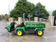 JOHN DEERE PRO GATOR, REAR PTO WHICH WORKS, RUNS, WORKS AND TIPS, 4 WHEEL DRIVE *PLUS VAT*