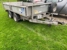 2018 IFOR WILLIAMS TT3621 TIPPING TRAILER, TOWS VERY WELL, EXCELLENT TYRES, ALL ROUND LED LIGHTS