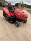 MASSEY FERGUSON 3316HE RIDE ON LAWN MOWER, RUNS, DRIVES AND CUTS, CLEAN MACHINE, C/W COLLECTOR