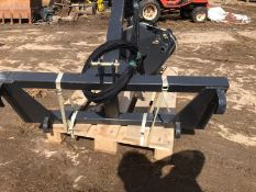 BRAND NEW AND UNUSED HANER ROTATING LOG GRAB, SUITABLE FOR EURO BRACKET LOADER OR 3 POINT LINKAGE