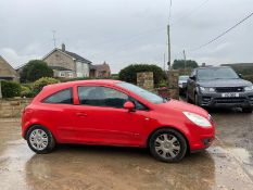 2007/57 REG VAUXHALL CORSA CLUB 1.2 PETROL RED 3 DOOR HATCHBACK, SHOWING 4 FORMER KEEPERS *NO VAT*