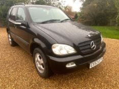 2003/53 REG MERCEDES ML270 CDI AUTO BLACK, SHOWING 2 FORMER KEEPERS *NO VAT*