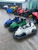 BLITZ TURBO BATTERY OPERATED GO KARTS, EACH ONE COMES WITH A HELMET AND OVERALL, IN WORKING ORDER