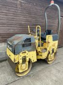 BOMAG BW80 RIDE ON ROLLER, ONLY 990 HOURS, STARTS FIRST TIME, RUNS, DRIVES & VIBRATES ON BOTH DRUMS