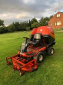 KUBOTA F1900 OUTFRONT DECK R/O MOWER + COLLECTOR,RUNS,DRIVES,CUTS,4WD,DIESEL, LOW HOURS 900 *NO VAT*