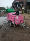 TI-90 LIGHTING TOWER WITH A KUBOTA ENGINE FULL WORKING ORDER 240 & 110 GENERATOR *PLUS VAT*