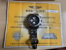 GENUINE BOXED WITH ALL PAPERWORK BREITLING SUPER AVENGER A13370 MENS WRIST WATCH *NO VAT*
