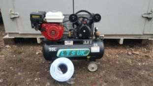 AIR COMPRESSOR 50 LTR NEW PETROL ENGINE 5.5 HP NEW *PLUS VAT*
